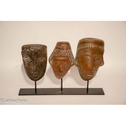 Masques mexicains terre cuite