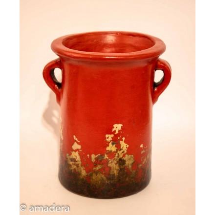 Petite poterie rouge cache pot