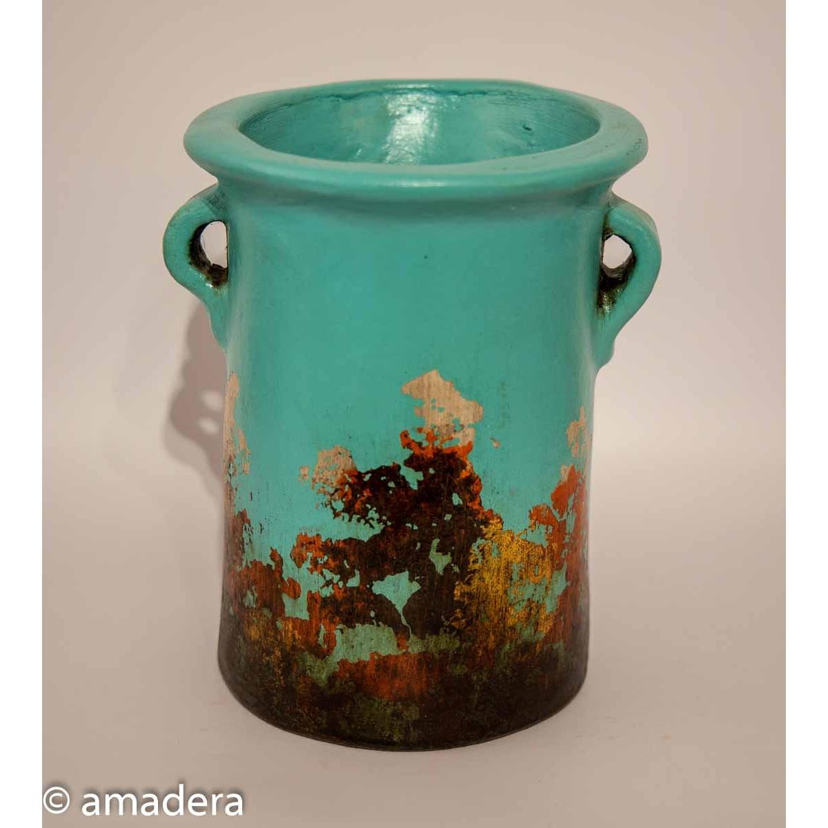 Poterie cache-pots bleu turquoise