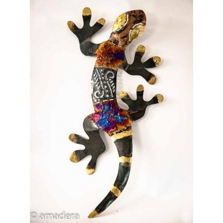 Déco murale salamandre en métal