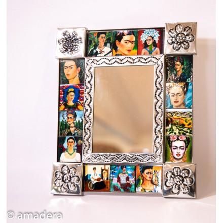 Deco murale miroir Frida Khalo