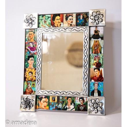 Déco murale miroir Frida Khalo