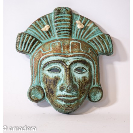 Masque mexicain terre cuite