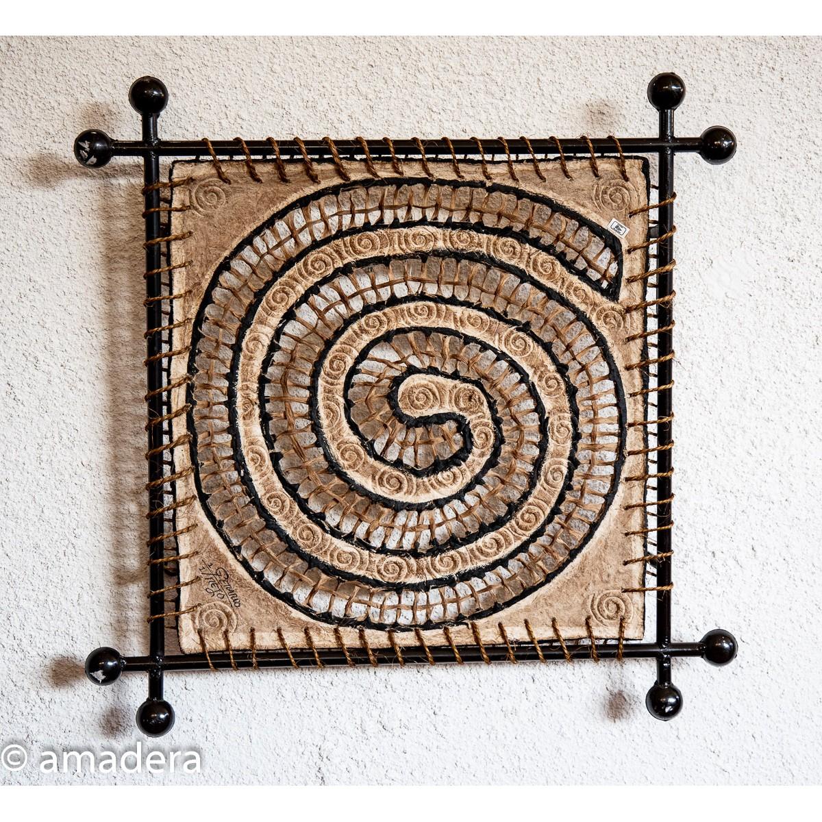 Tableaux décoration en fibre végétale