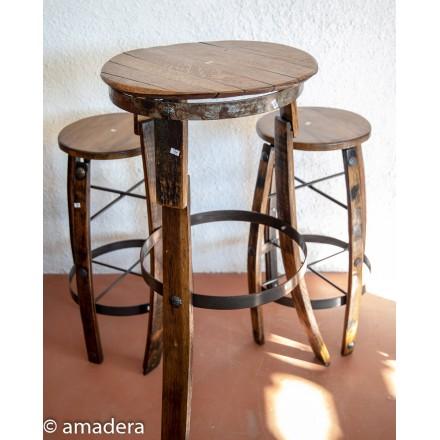 Ensemble table haute et tabourets de bar