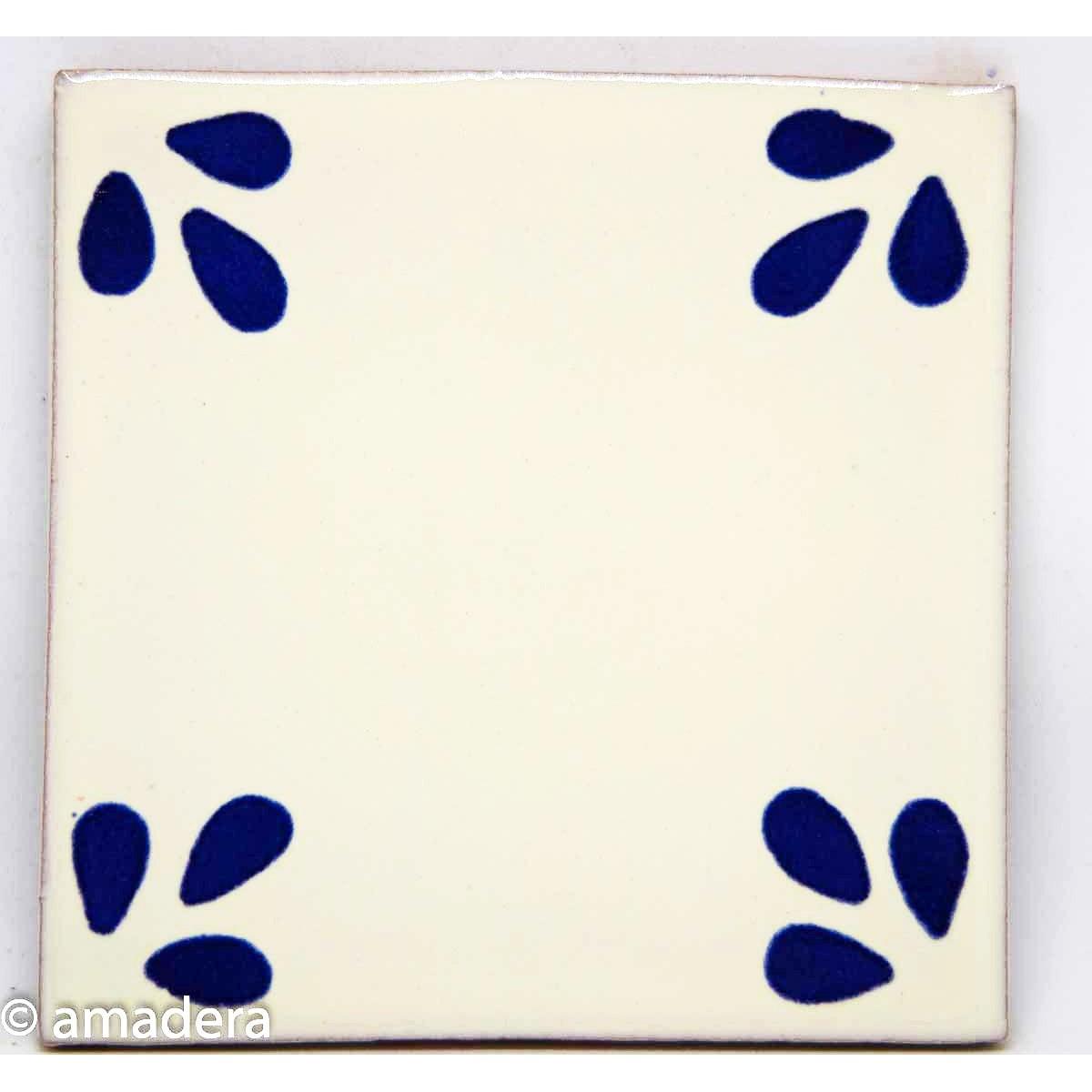 Cabochon azulejos décoré