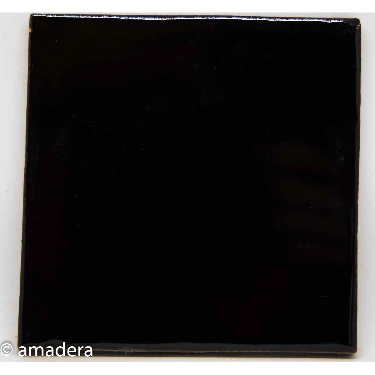 azulejos carrelage unis noir