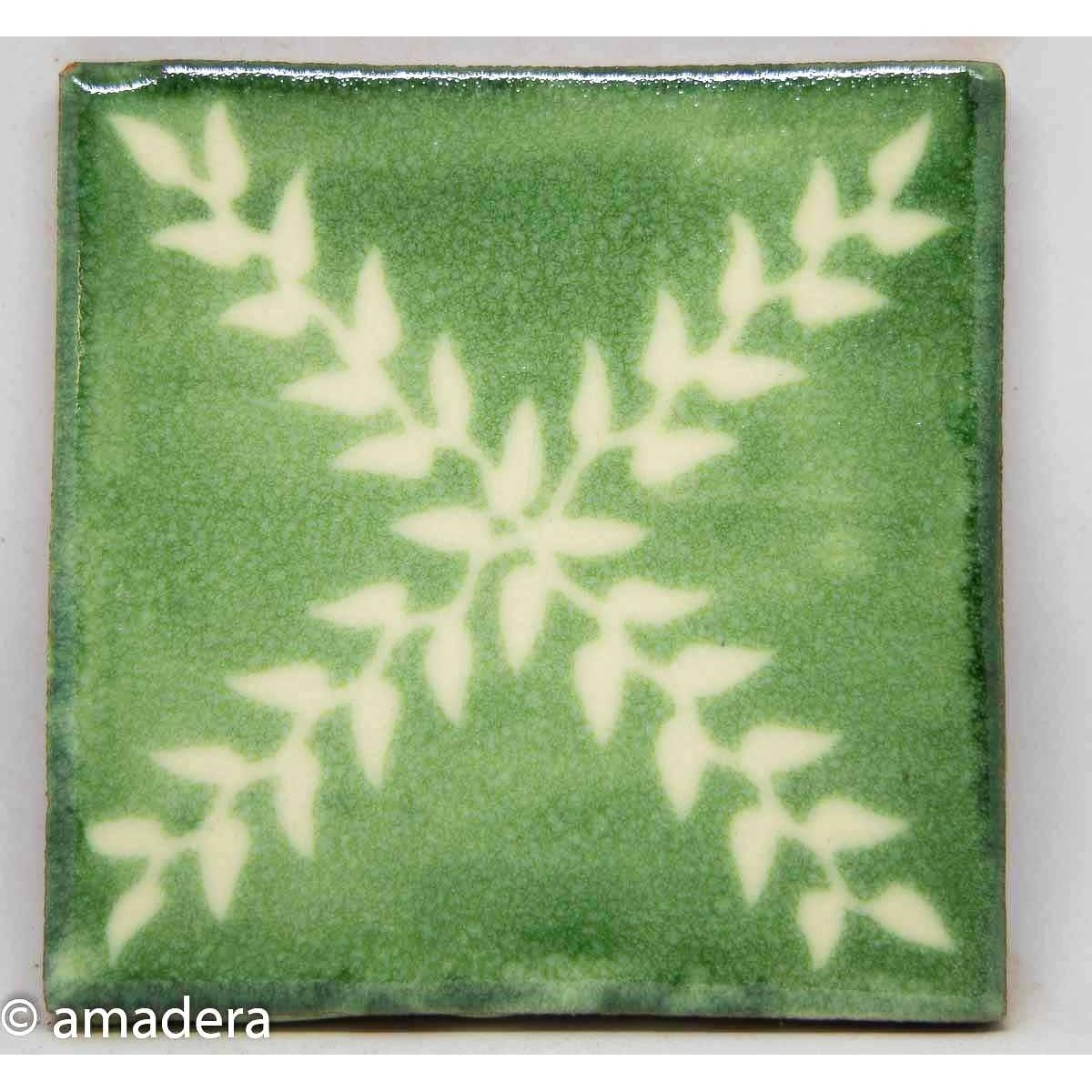 Carrelage azulejos Arbor Blanc Vert