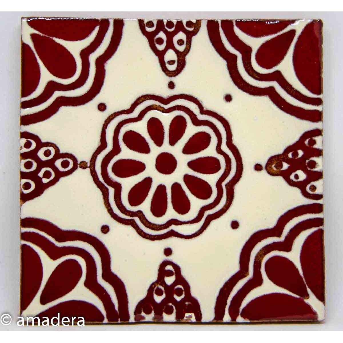 Azulejos mexicains Lace Rouge