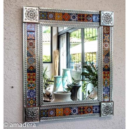 Miroir rectangulaire en métal