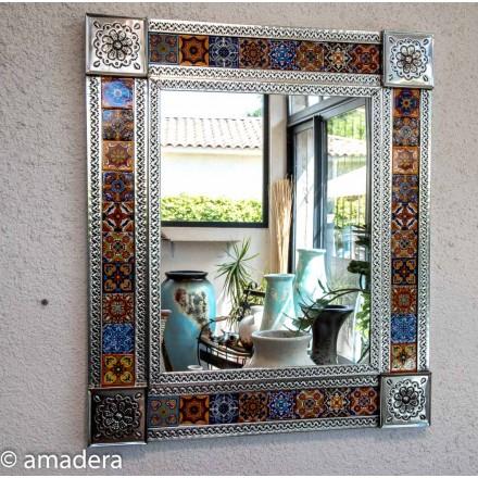Miroir rectangulaire en metal