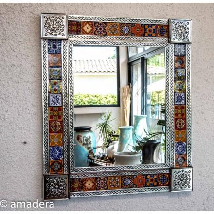 Miroir rectangulaire mexicain