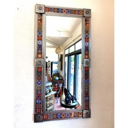 Grand miroir déco en métal