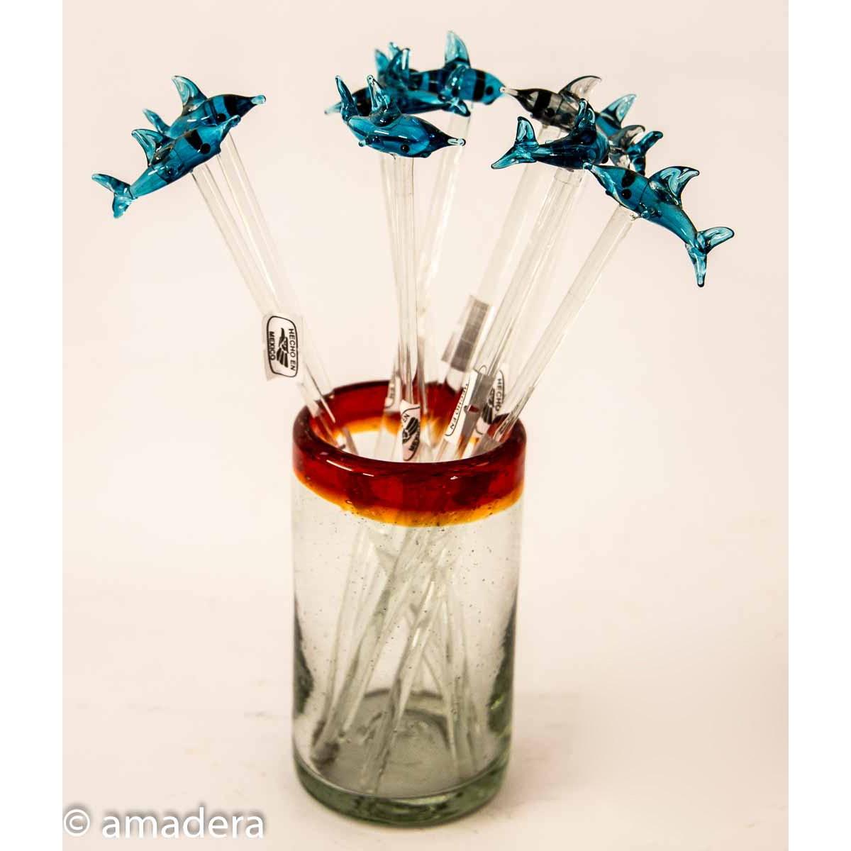 Touilleurs en verre pour cocktails