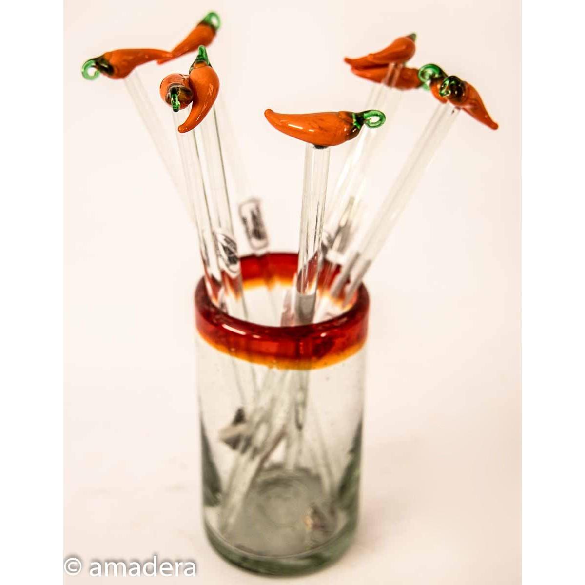 Touillettes cocktails en verre