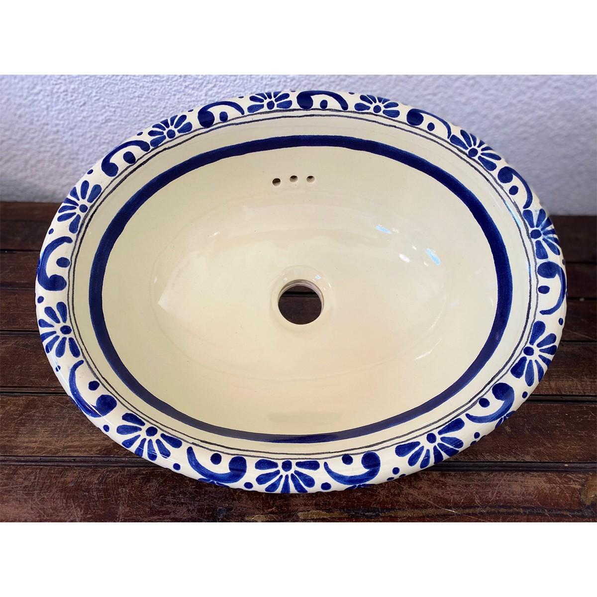 Vasque décorée en céramique