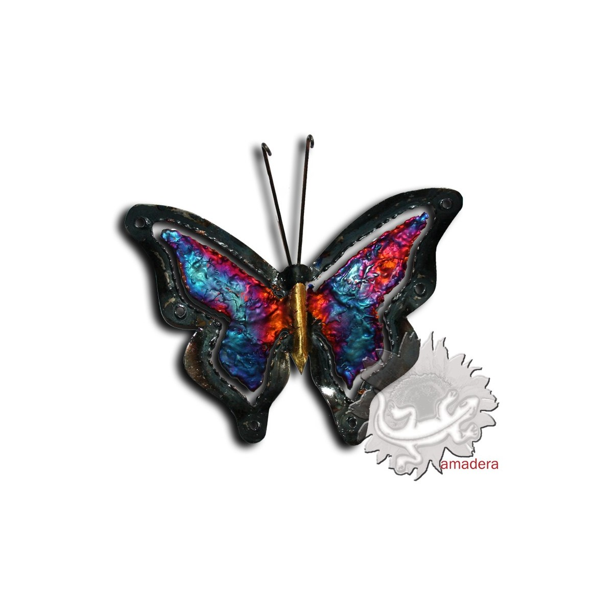 d coration d 39 int rieur murale papillon artisanal m tal On decoration murale papillon