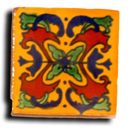 Cabochon azulejos mexicain