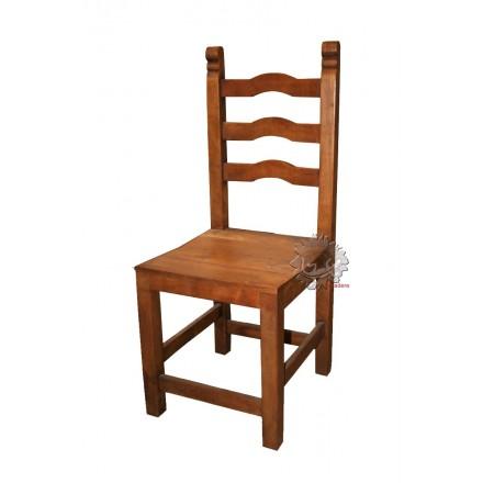 Chaise en bois exotique