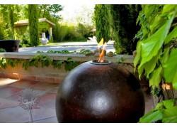 Lampe à éthanol déco jardin