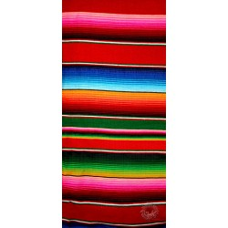 Couverture mexicaine rouge