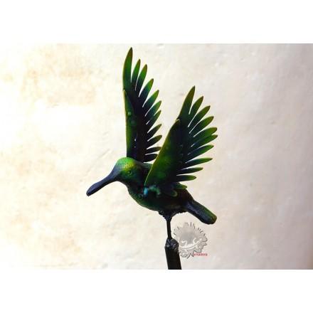 Tuteur décoratif colibri