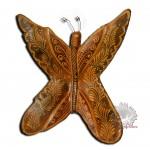 Papillon terre cuite déco murale