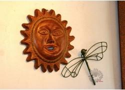 Soleil mexicain en terre cuite