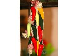 Piments en céramique décoration cuisine