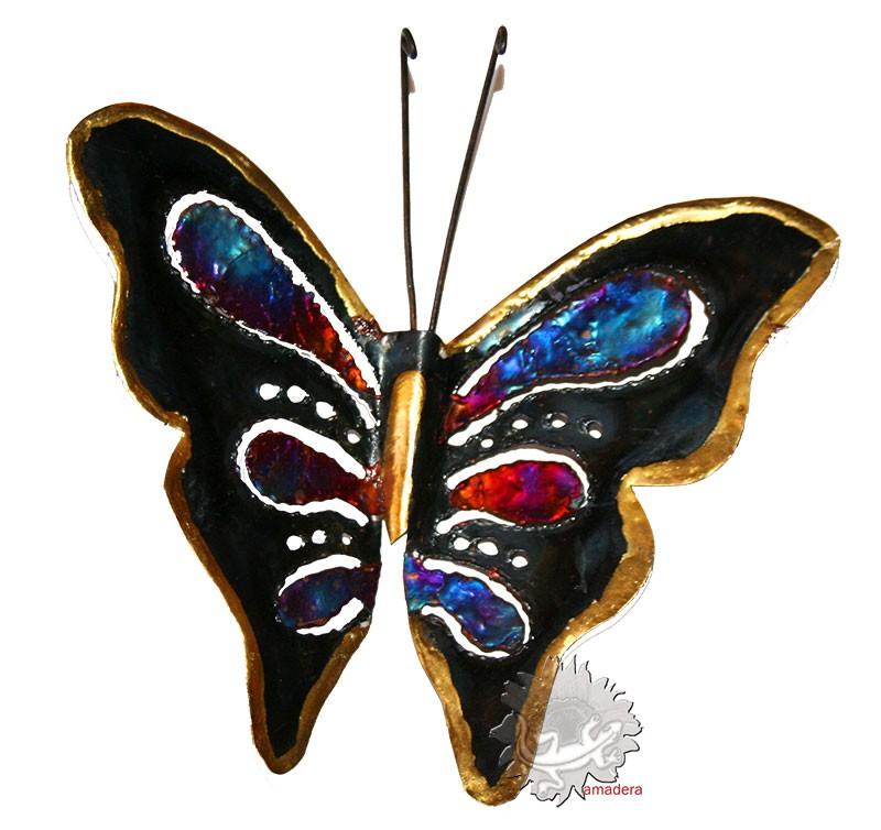 papillon d co en m tal cuivre bronze papillon unique. Black Bedroom Furniture Sets. Home Design Ideas