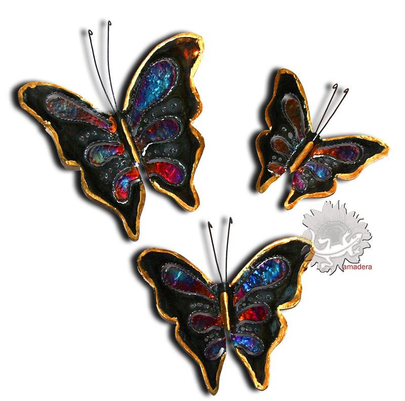 Papillon d co en m tal cuivre bronze papillon unique for Decoration murale papillon