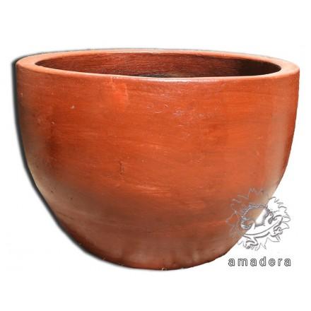 Large pot terre cuite cache pot d coration ext rieure - Cache pot terre cuite ...