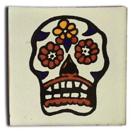 Carrelage azulejos tête de mort