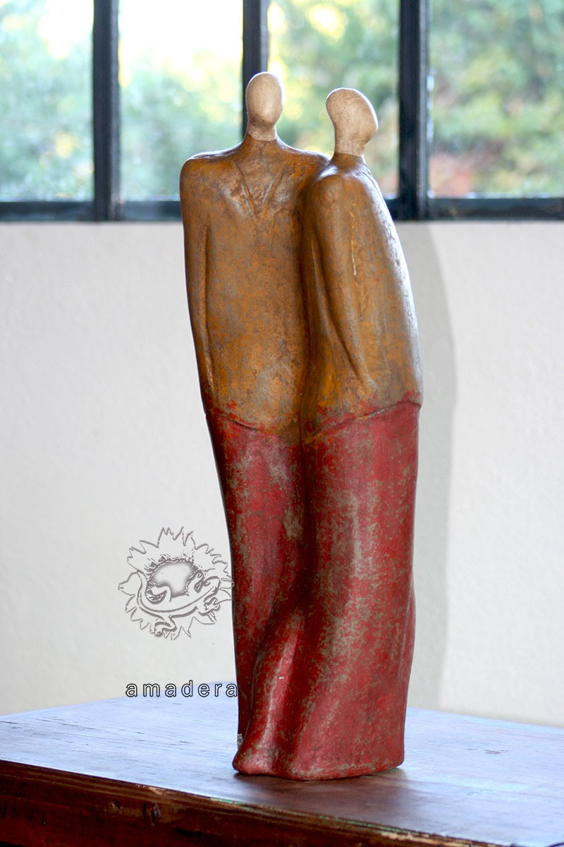 Statue mexicaine en terre cuite faite la main un style - Grande statue decoration interieur ...