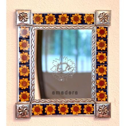 miroir mexicain argent et d cor pour salle de bain. Black Bedroom Furniture Sets. Home Design Ideas
