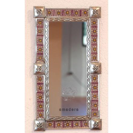 Petit miroir rectangulaire argent d coration murale for Decoration murale miroir
