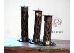 Chandelier en métal et cactus