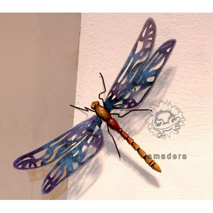 Grande libellule décoration murale