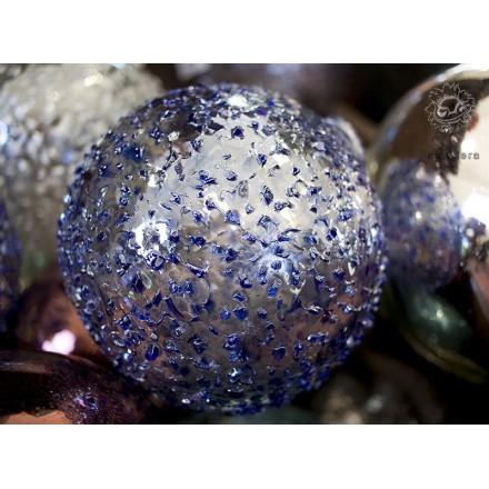 Boules de décoration bleues