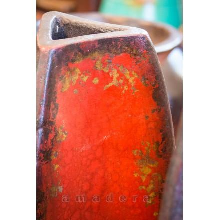 Jarre poterie déco rouge