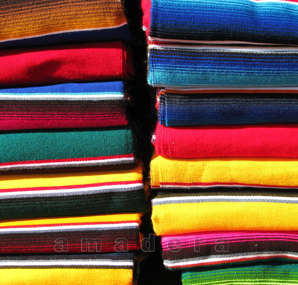 Couverture mexicaine verte