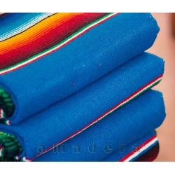Couverture mexicaine turquoise