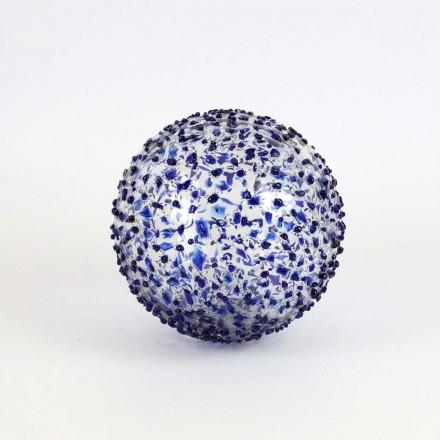 Boules déco transparentes bleues
