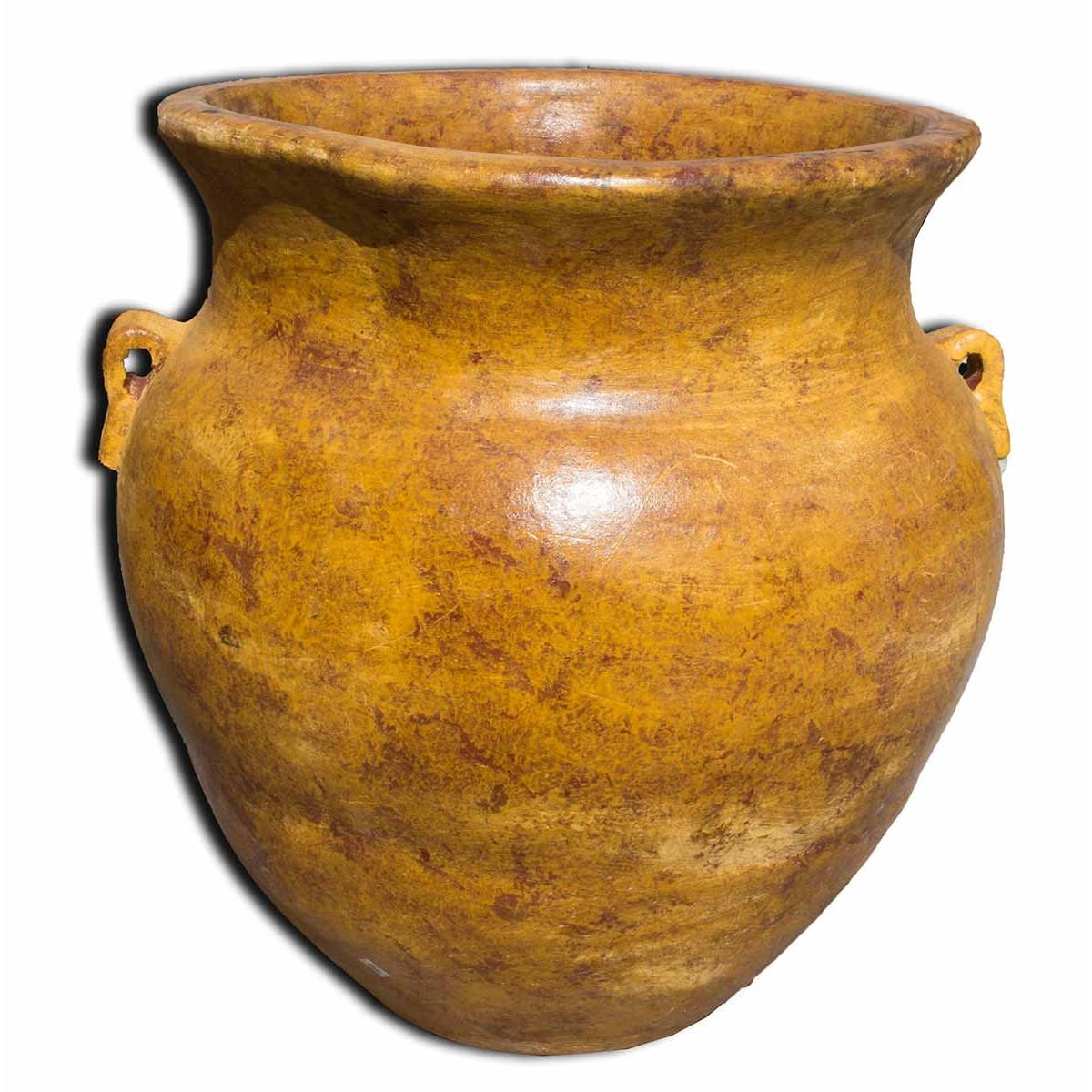 Grand pot de jardin cache pot en terre cuite non g live pour jardin - Grand pot de jardin ...