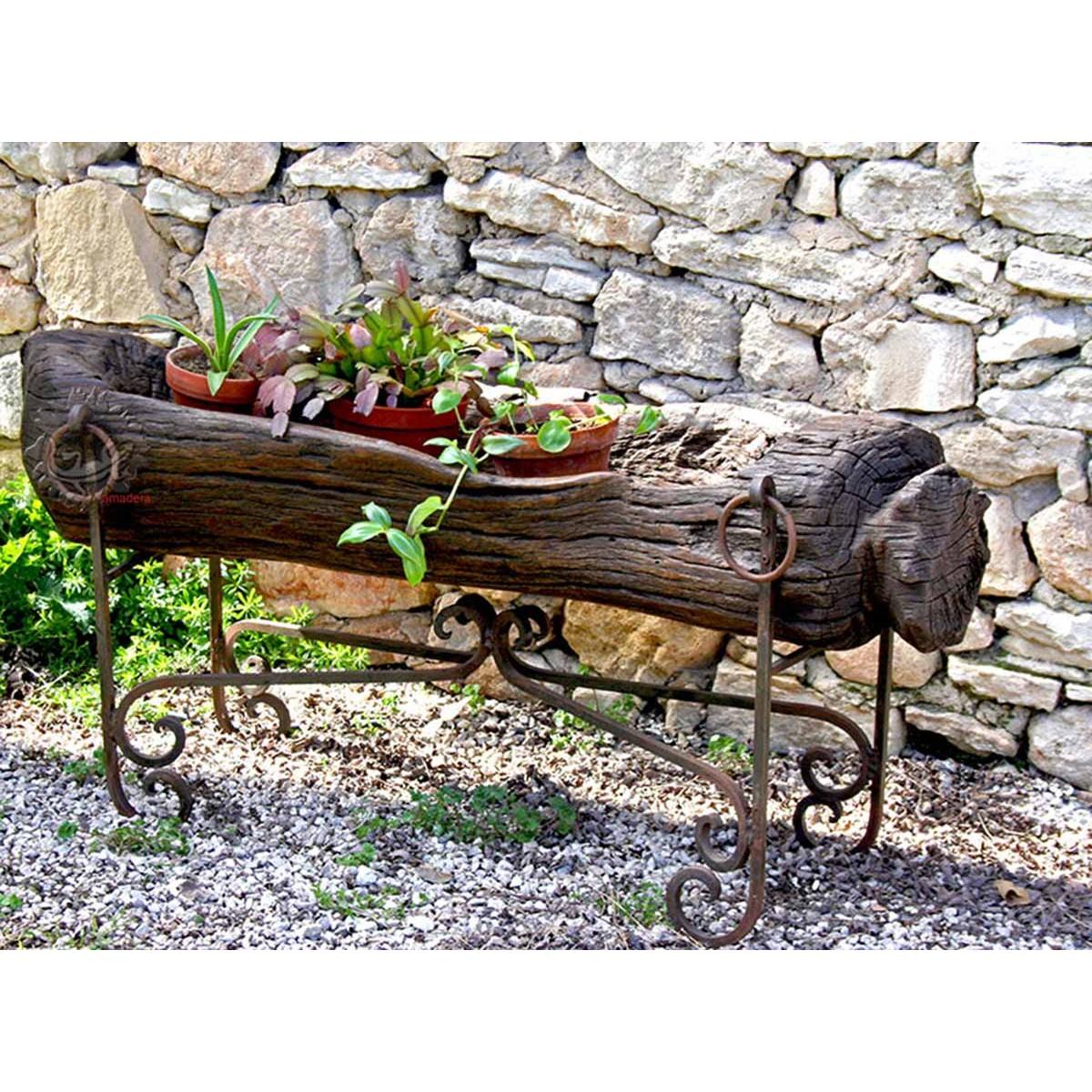 Jardinière en bois exotique imputrescible