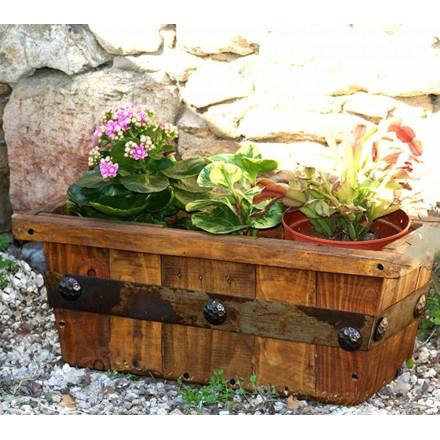 Jardinières en bois rustique