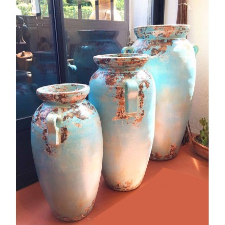 Grandes jarres turquoises