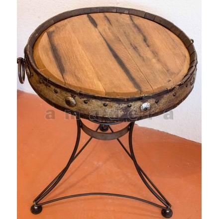 Table bistrot fer forgé et bois