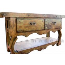Grande console meuble en pin