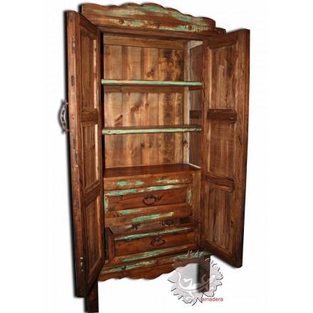 Meuble armoire en pin